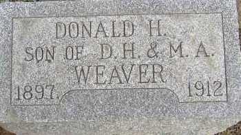 WEAVER, DONALD H. - Allen County, Ohio | DONALD H. WEAVER - Ohio Gravestone Photos