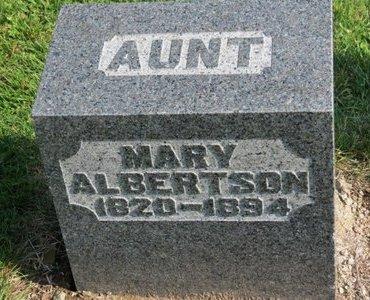 ALBERTSON, MARY - Ashland County, Ohio | MARY ALBERTSON - Ohio Gravestone Photos