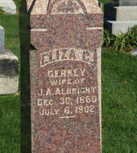 ALBRIGHT, ELIZA C. - Ashland County, Ohio | ELIZA C. ALBRIGHT - Ohio Gravestone Photos