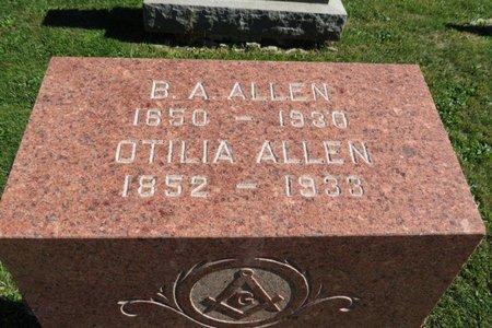 ALLEN, OTILIA - Ashland County, Ohio | OTILIA ALLEN - Ohio Gravestone Photos