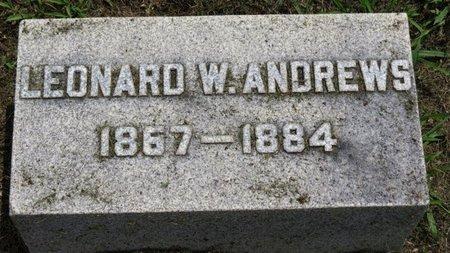 ANDREWS, LEONARD W. - Ashland County, Ohio   LEONARD W. ANDREWS - Ohio Gravestone Photos