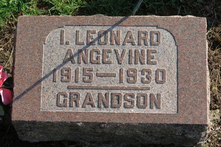ANGEVINE, I. LEONARD - Ashland County, Ohio   I. LEONARD ANGEVINE - Ohio Gravestone Photos