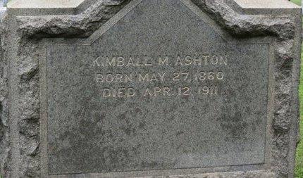 ASHTON, KIMBALL M. - Ashland County, Ohio   KIMBALL M. ASHTON - Ohio Gravestone Photos