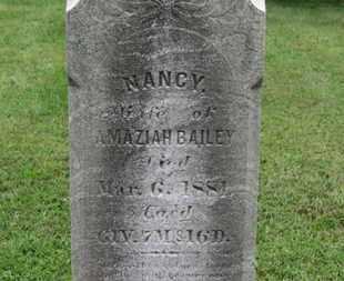 BAILEY, NANCY - Ashland County, Ohio | NANCY BAILEY - Ohio Gravestone Photos