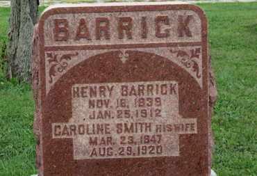 BARRICK, HENRY - Ashland County, Ohio | HENRY BARRICK - Ohio Gravestone Photos