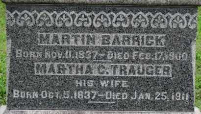 TRAUGER BARRICK, MARTHA C. - Ashland County, Ohio | MARTHA C. TRAUGER BARRICK - Ohio Gravestone Photos
