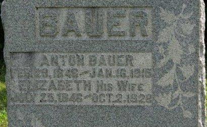 BAUER, ELIZABETH - Ashland County, Ohio | ELIZABETH BAUER - Ohio Gravestone Photos