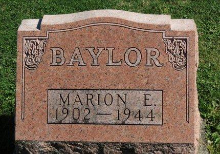 BAYLOR, MARION E. - Ashland County, Ohio | MARION E. BAYLOR - Ohio Gravestone Photos