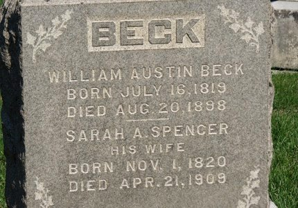 BECK, SARAH A. - Ashland County, Ohio | SARAH A. BECK - Ohio Gravestone Photos