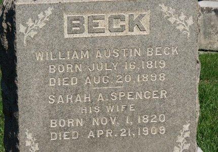 BECK, WILLIAM AUSTIN - Ashland County, Ohio | WILLIAM AUSTIN BECK - Ohio Gravestone Photos