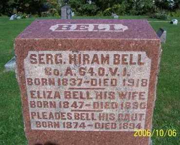 BELL, HIRAM - Ashland County, Ohio   HIRAM BELL - Ohio Gravestone Photos