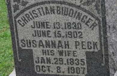 PECK BIDDINGER, SUSANNAH - Ashland County, Ohio | SUSANNAH PECK BIDDINGER - Ohio Gravestone Photos