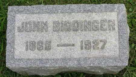 BIDDINGER, JOHN - Ashland County, Ohio | JOHN BIDDINGER - Ohio Gravestone Photos