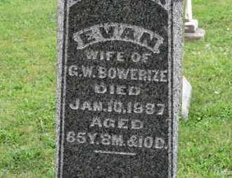 BOWERIZE, EVA N. - Ashland County, Ohio | EVA N. BOWERIZE - Ohio Gravestone Photos
