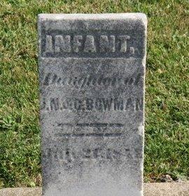 BOWMAN, INFANT  DAUGHTER - Ashland County, Ohio | INFANT  DAUGHTER BOWMAN - Ohio Gravestone Photos
