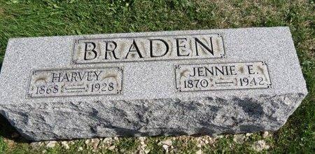 BRADEN, HARVEY - Ashland County, Ohio | HARVEY BRADEN - Ohio Gravestone Photos