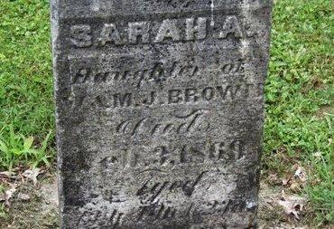 BROWN, SARAH A. - Ashland County, Ohio   SARAH A. BROWN - Ohio Gravestone Photos