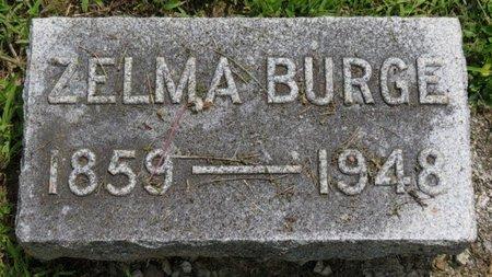 BURGE, ZELMA - Ashland County, Ohio   ZELMA BURGE - Ohio Gravestone Photos