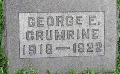 CRUMRINE, GEORG E. - Ashland County, Ohio | GEORG E. CRUMRINE - Ohio Gravestone Photos