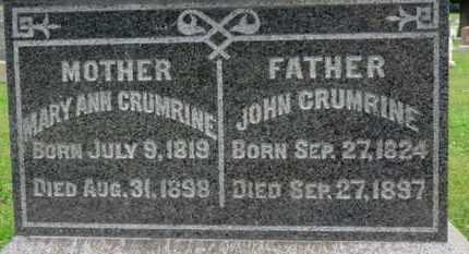 CRUMRINE, JOHN - Ashland County, Ohio | JOHN CRUMRINE - Ohio Gravestone Photos