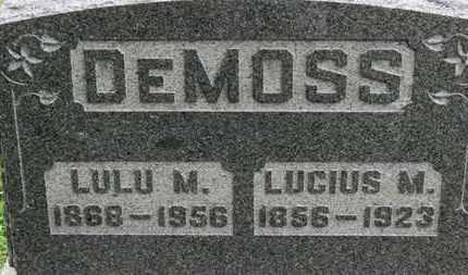 DEMOSS, LUCIUS M. - Ashland County, Ohio | LUCIUS M. DEMOSS - Ohio Gravestone Photos