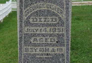 DIBLER, GEORGE - Ashland County, Ohio | GEORGE DIBLER - Ohio Gravestone Photos