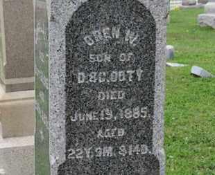DOTY, OREN W. - Ashland County, Ohio | OREN W. DOTY - Ohio Gravestone Photos