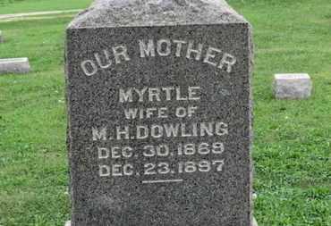 DOWLING, MYRTLE - Ashland County, Ohio | MYRTLE DOWLING - Ohio Gravestone Photos