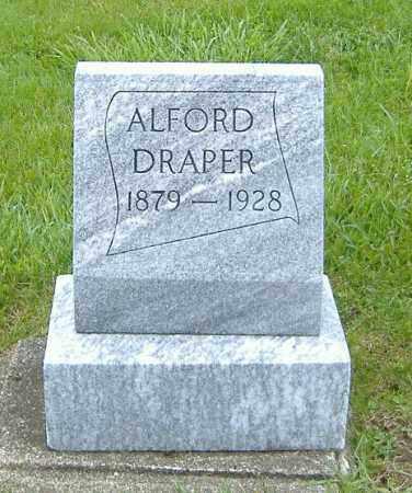 DRAPER, ALFORD - Ashland County, Ohio   ALFORD DRAPER - Ohio Gravestone Photos