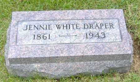 WHITE DRAPER, JENNIE M. - Ashland County, Ohio | JENNIE M. WHITE DRAPER - Ohio Gravestone Photos