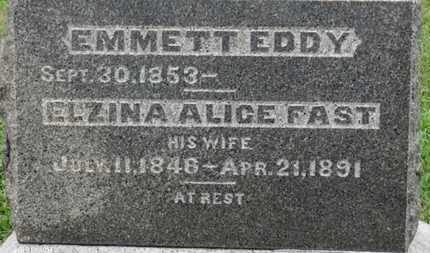 EDDY, ELZINA ALICE - Ashland County, Ohio | ELZINA ALICE EDDY - Ohio Gravestone Photos