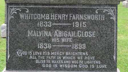 CLOSE FARNSWORTH, MALVINA ABIGAIL - Ashland County, Ohio   MALVINA ABIGAIL CLOSE FARNSWORTH - Ohio Gravestone Photos