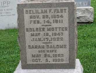 MOTTER, SARAH SALOME - Ashland County, Ohio | SARAH SALOME MOTTER - Ohio Gravestone Photos