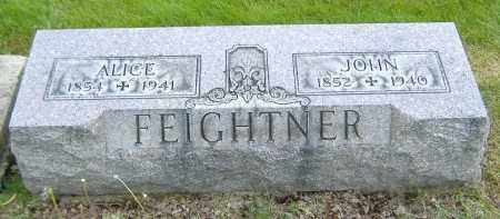 FEIGHTNER, JOHN - Ashland County, Ohio | JOHN FEIGHTNER - Ohio Gravestone Photos