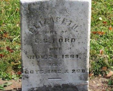 FORD, ELIZABETH - Ashland County, Ohio | ELIZABETH FORD - Ohio Gravestone Photos