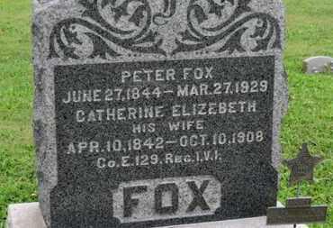 FOX, PETER - Ashland County, Ohio   PETER FOX - Ohio Gravestone Photos