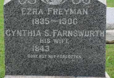 FARNSWORTH FREYMAN, CYNTHIA S. - Ashland County, Ohio   CYNTHIA S. FARNSWORTH FREYMAN - Ohio Gravestone Photos