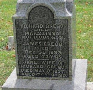 GREGG, JANE - Ashland County, Ohio | JANE GREGG - Ohio Gravestone Photos