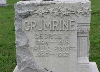 GRUMRINE, GEORGE W. - Ashland County, Ohio | GEORGE W. GRUMRINE - Ohio Gravestone Photos