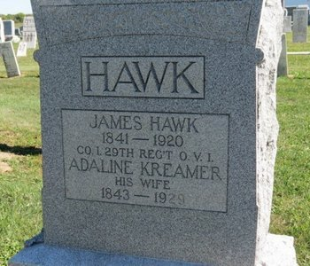 HAWK, ADALINE - Ashland County, Ohio | ADALINE HAWK - Ohio Gravestone Photos