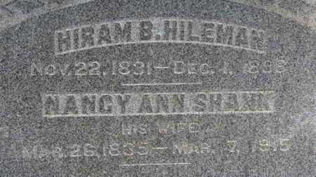 HILEMAN, HIRAM B. - Ashland County, Ohio | HIRAM B. HILEMAN - Ohio Gravestone Photos