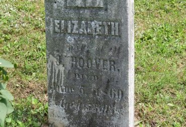 HOOVER, ELIZABETH - Ashland County, Ohio | ELIZABETH HOOVER - Ohio Gravestone Photos