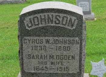 JOHNSON, SARAH M. - Ashland County, Ohio | SARAH M. JOHNSON - Ohio Gravestone Photos