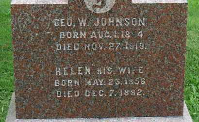 JOHNSON, GEO. W. - Ashland County, Ohio | GEO. W. JOHNSON - Ohio Gravestone Photos