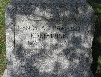 CRAWFORD KIRKPATRICK, NANCY A. - Ashland County, Ohio   NANCY A. CRAWFORD KIRKPATRICK - Ohio Gravestone Photos