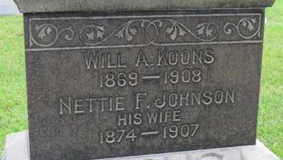 JOHNSON KOONS, NETTTIE F. - Ashland County, Ohio | NETTTIE F. JOHNSON KOONS - Ohio Gravestone Photos