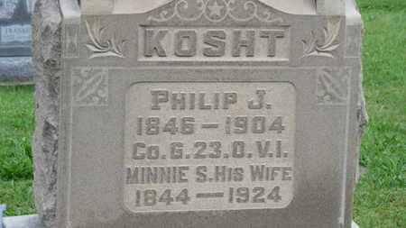 KOSHT, PHILIP J. - Ashland County, Ohio | PHILIP J. KOSHT - Ohio Gravestone Photos