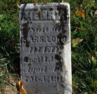 LONG, HENRY - Ashland County, Ohio | HENRY LONG - Ohio Gravestone Photos