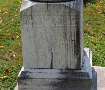 LONG, MARY - Ashland County, Ohio | MARY LONG - Ohio Gravestone Photos