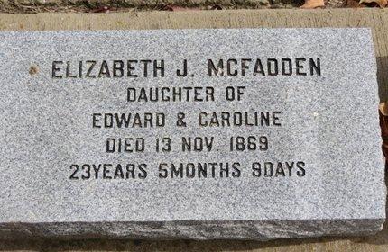 MCFADDEN, ELIZABETH J. - Ashland County, Ohio | ELIZABETH J. MCFADDEN - Ohio Gravestone Photos